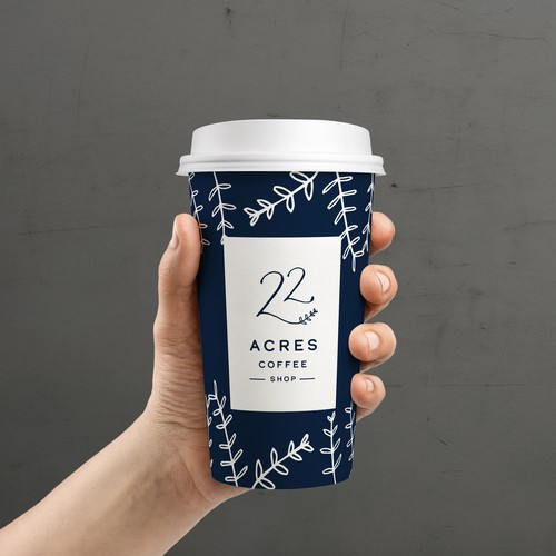 22 Acres Coffee Shop Logo Design