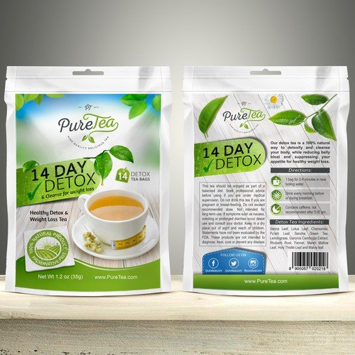 Packaging design for Pure Tea