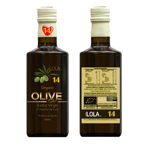 Extra Virgin Olive Oil label