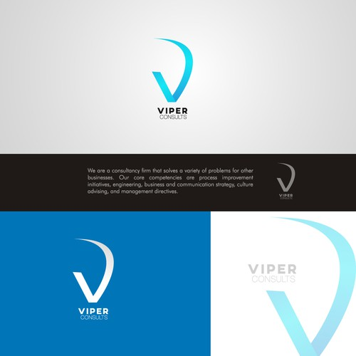 Create a beautiful logo for Viper Consults, a business consulting firm.