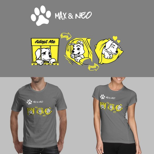 Dogs Shelter t-shirt design