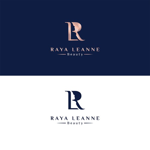 Luxury Monogram Logo for Raya Leanne Beauty