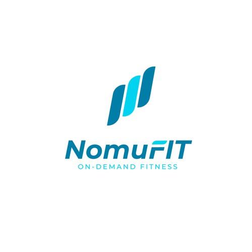 Online fitness app logo
