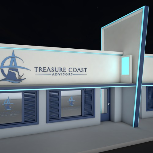 Building rendering for Treasure Coast Advisors