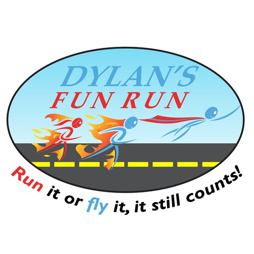 Expressive 'Dylan's Fun Run' Logo