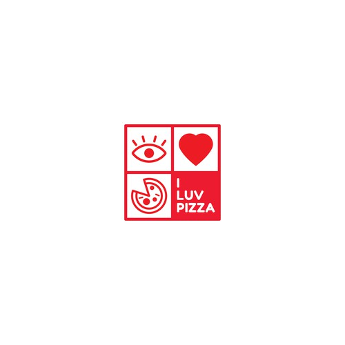 I Luv Pizza Logo