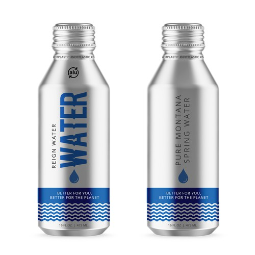Package design for reign water