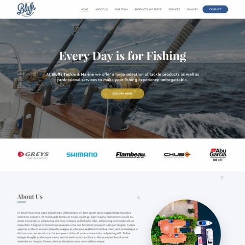 Website design for Bluffs Tackle & Marine