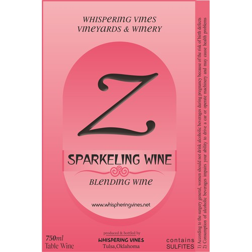 Whispering Vines Vineyards and Winery needs a new print or packaging design