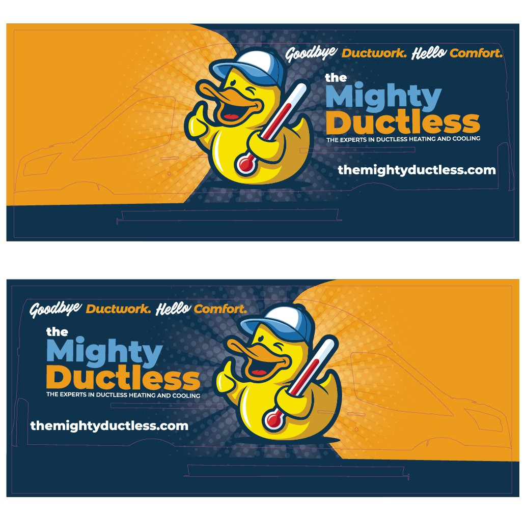 Design Wrap for Ductless Heating and Cooling company