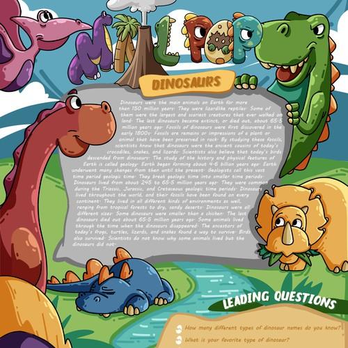 Illustration to letter of kids