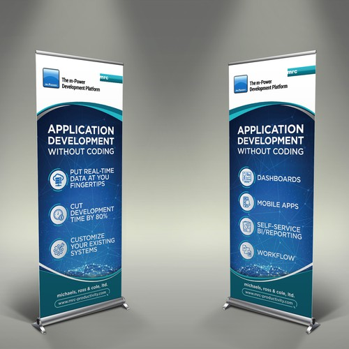 Software development company needs 2 retractable banners