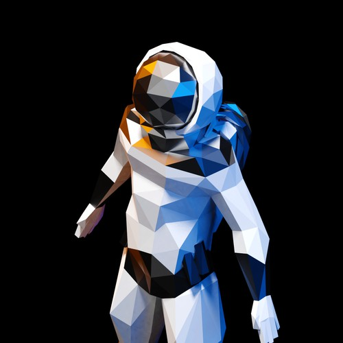 Lowpoly Athletic Astronaut