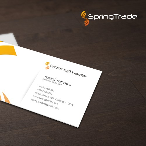 New logo and business card wanted for SpringTrade
