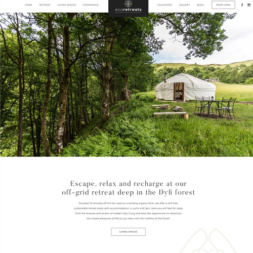 Nature inspired website design
