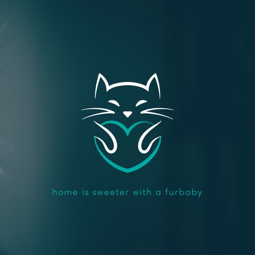 Logo concept for an animal social enterprise focused on cats
