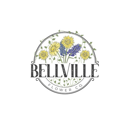 logo concept for flower company