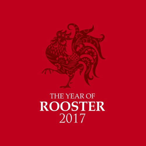Rooster years 2017 concept