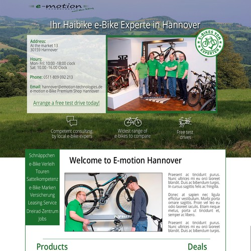 Redesign of Bike Shop Store Pages