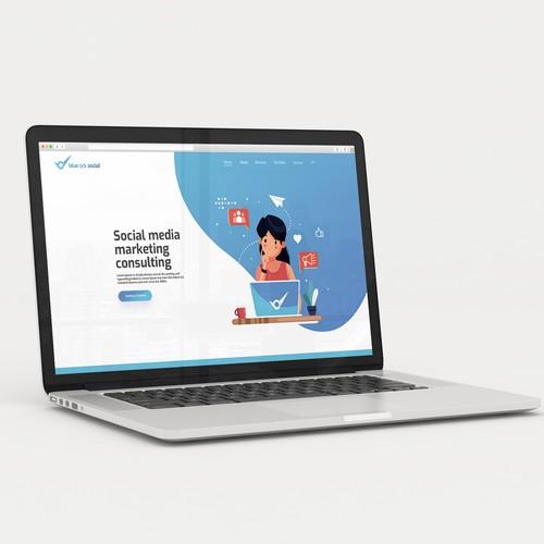 Website Design for a Social Media Marketing Consulting Company
