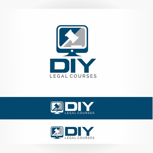 Logo concept for online legal courses.
