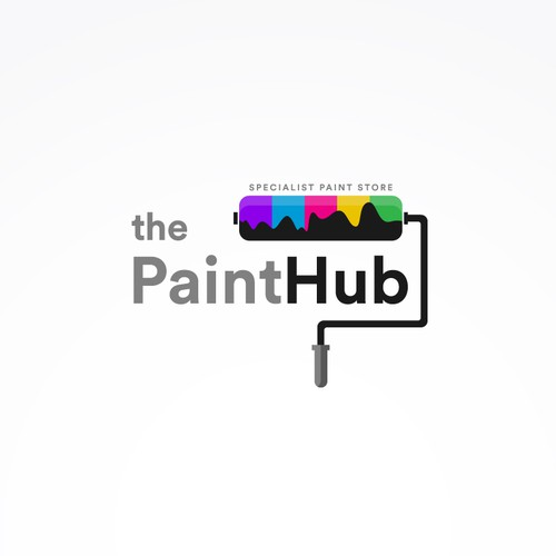 """The paint hub"" Logo concept"