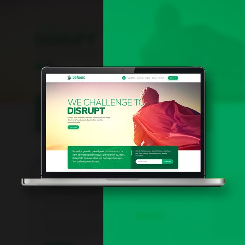 Home Page Design for Security Business