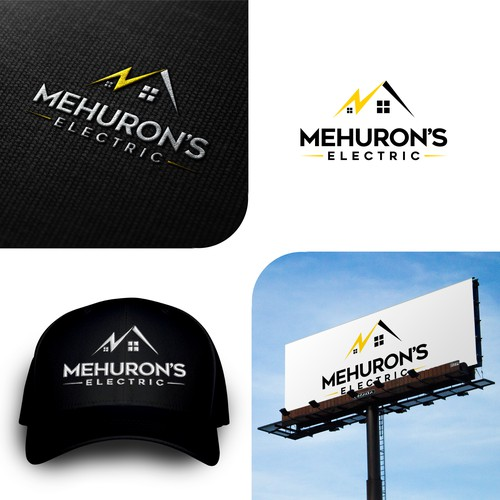 Bold logo for Mehuron`s electric.