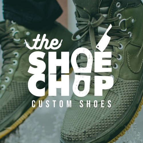 Logo design for custom shoe shop