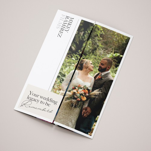 Luxury Film Brochure for a wedding videographer