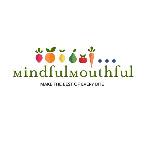Create the next logo for Mindful Mouthful