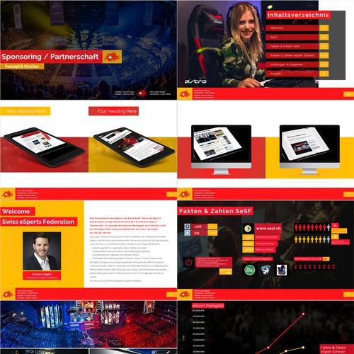 Swiss esport federation PowerPoint Template
