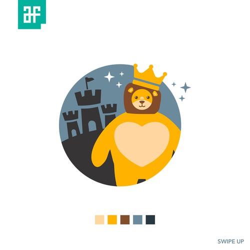 """Concept for """"Tiny Headed Kingdom"""""""