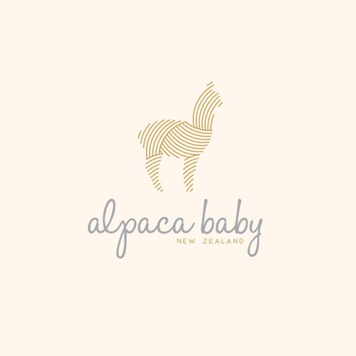 logo design idea for a new business selling alpaca baby products