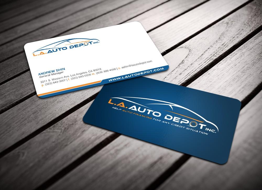 L.A. Auto Depot Inc. needs a Business Card Design