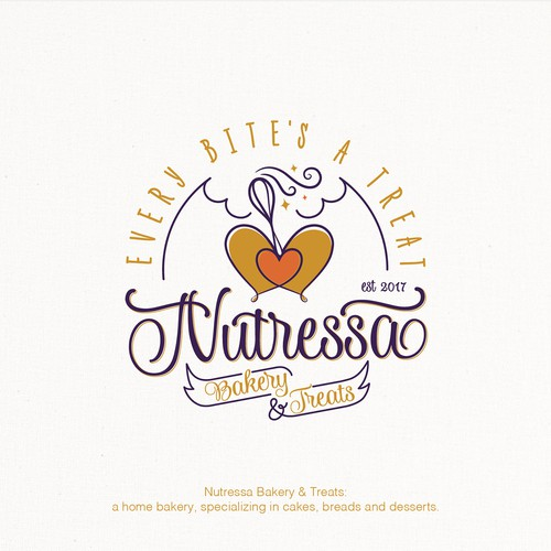 Charming logo for a home bakery