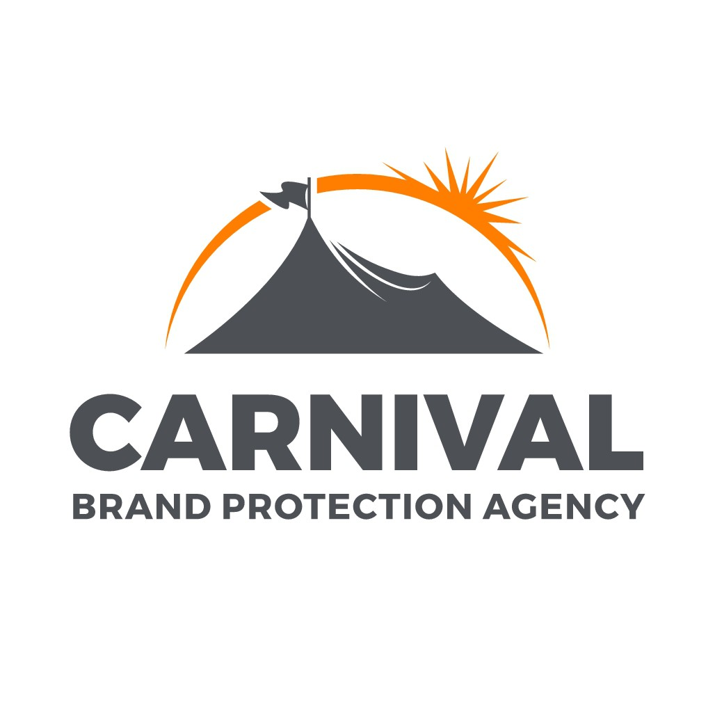 Design a carnival/circus theme logo for a brand protection agency