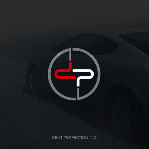The logo and business card design for Dent Perfection