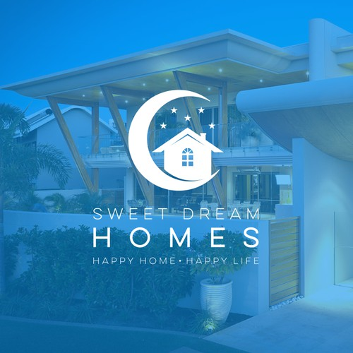"""Dreamy logo for a new real estate company """"Sweet Dream Homes"""""""