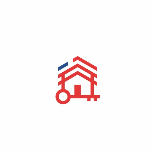 Homekey with america flag