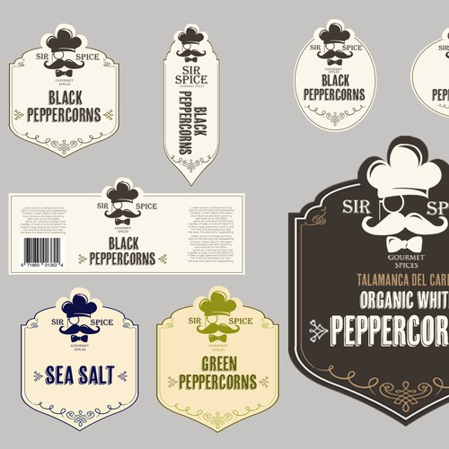 Create Label Designs for Sir Spice!