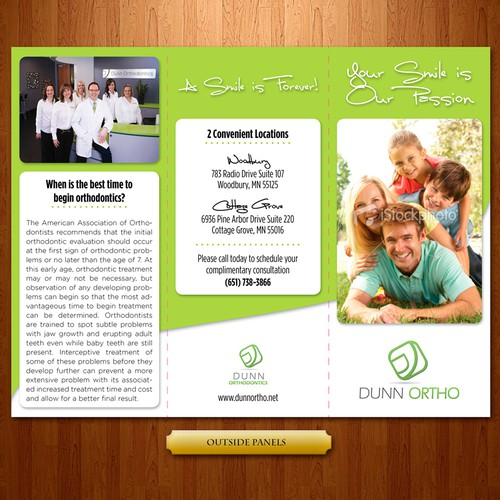brochure design for Dunn Orthodontics