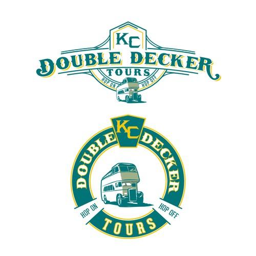 Vintage logo for bus tour company