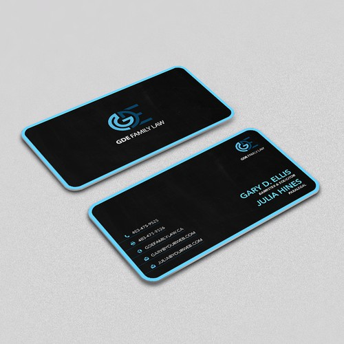 Dark, Clean, Professional Business Card