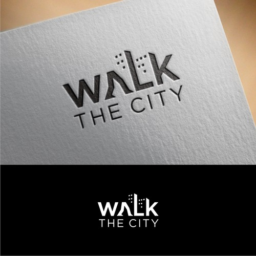 Logo for walking tour company