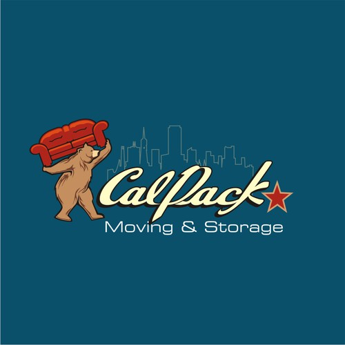 CA State Flag-inspired bear needed for moving co. - CalPACK