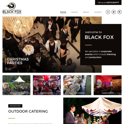 Black Fox Events Website
