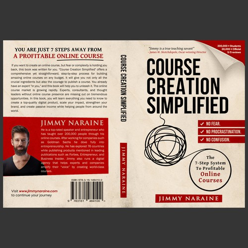 Bold concept for Course Creation Simplified book cover