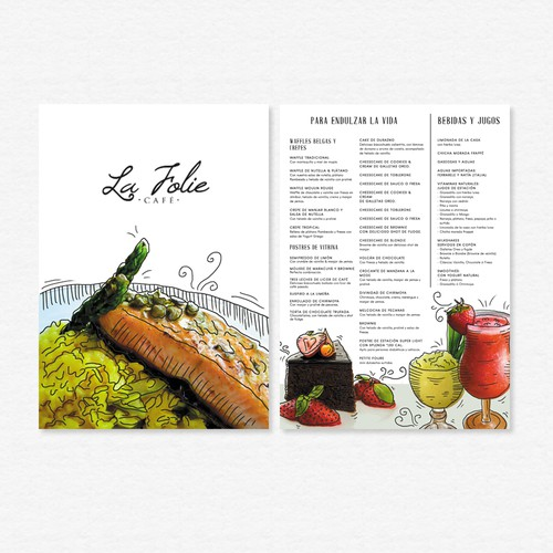 Clean contemporary menu design
