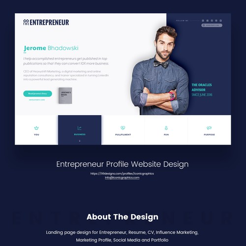 Entrepreneur Profile Website Design